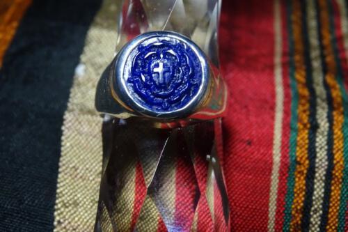 Lapis Lazuli Rosicrusian RIng