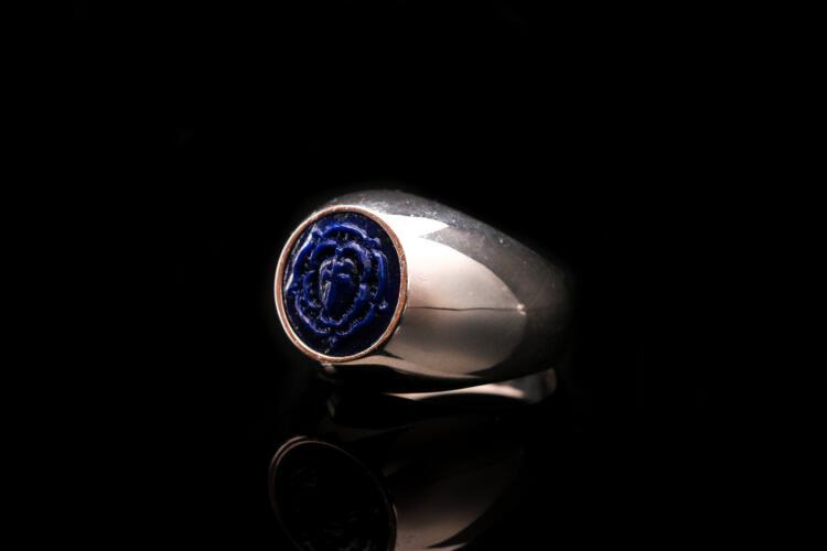 Small Lapis Lazuli Rosicrucian Ring