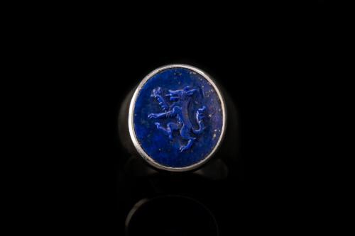 Lapis Wolf Ring