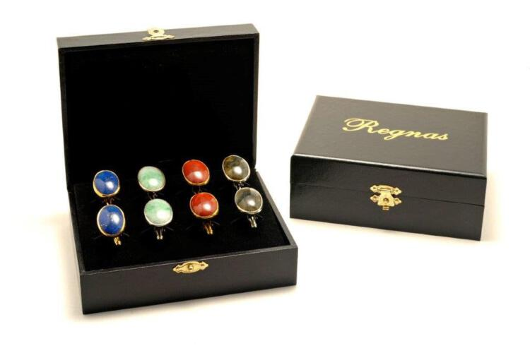 Regnas Cabochon Cuff Links Collection - Gift Box