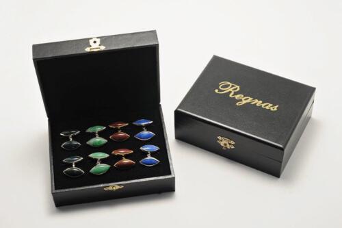 Regnas Lozenge Cuff Links Collection – Gift Box