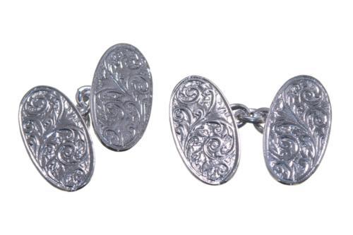 Double Oval Belgravia Cufflinks - Sterling Silver 925