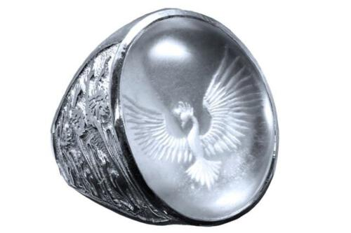 Rock Crystal Ring - Phoenix Rising - Sterling Silver 925