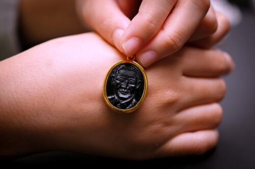 Black Onyx President Obama Pendant
