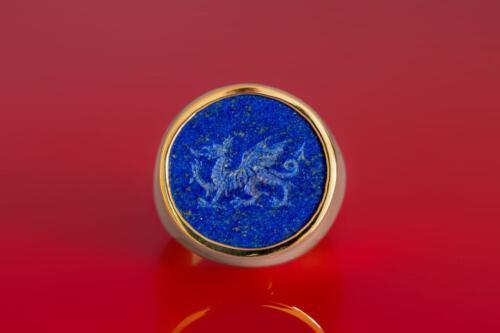 Celtic Welsh Dragon Ring