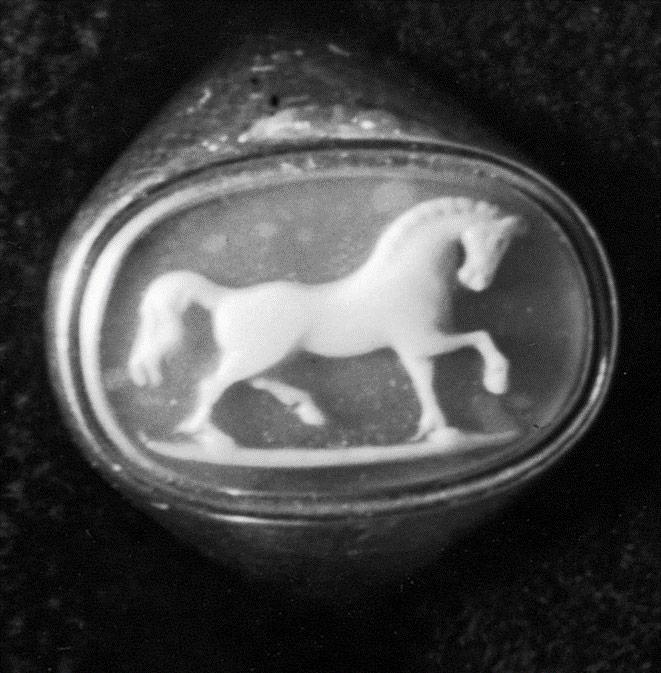 Ancient black onyx ring