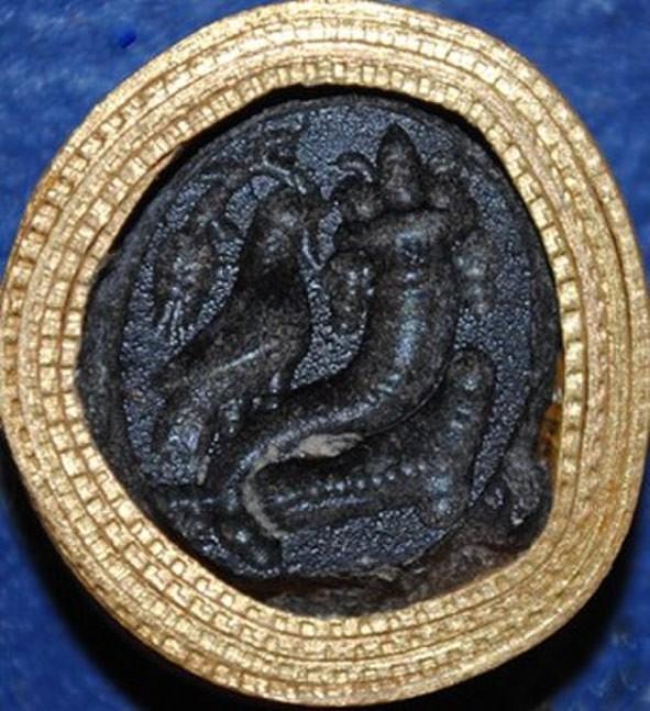 Ancient black onyx art