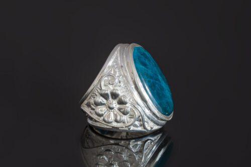 Apatite Ring - Rare Stone - Unique - Sterling Silver