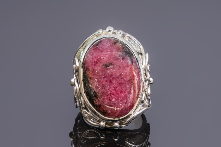 Ruby Zoisite Ring - Unique - Sterling Silver