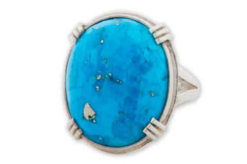 Unique Turquoise Ring - Sterling Silver