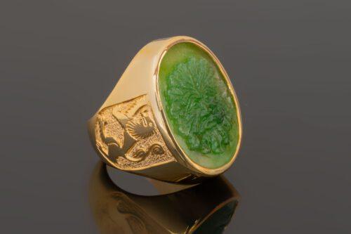 Canada Jade Green Man Ring