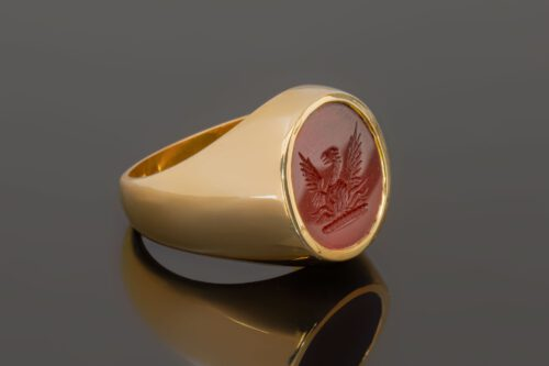 Red Agate Phoenix Ring